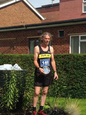 Dave won his age category in Eston Nab 10k