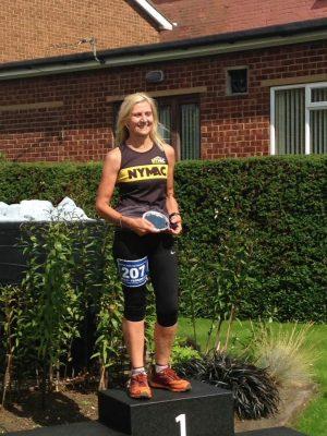 Anne won her age category in Eston Nab 10k